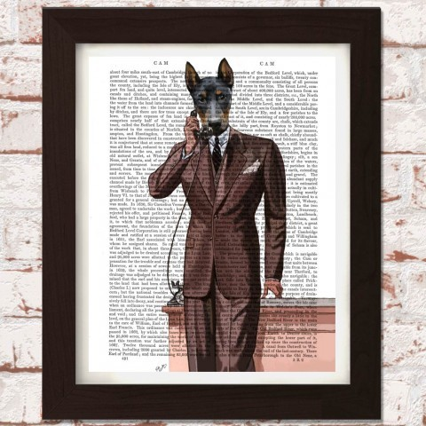 doberman-pinscher-on-phone-print
