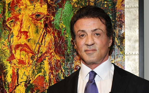 "Sylvester Stallone vor seinen Bildern, Kunst ""The Electric Burst of Creativity""  / Eröffnung Art Basel Miami Beach in Miami, USA am 02.12.2009 / Foto: BrauerPhotos (c) Sabine Brauer"