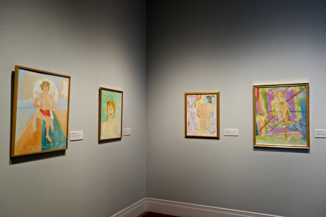 Installation view of 'Tennessee Williams: The Playwright and the Painter' (photo by the author for Hyperallergic)
