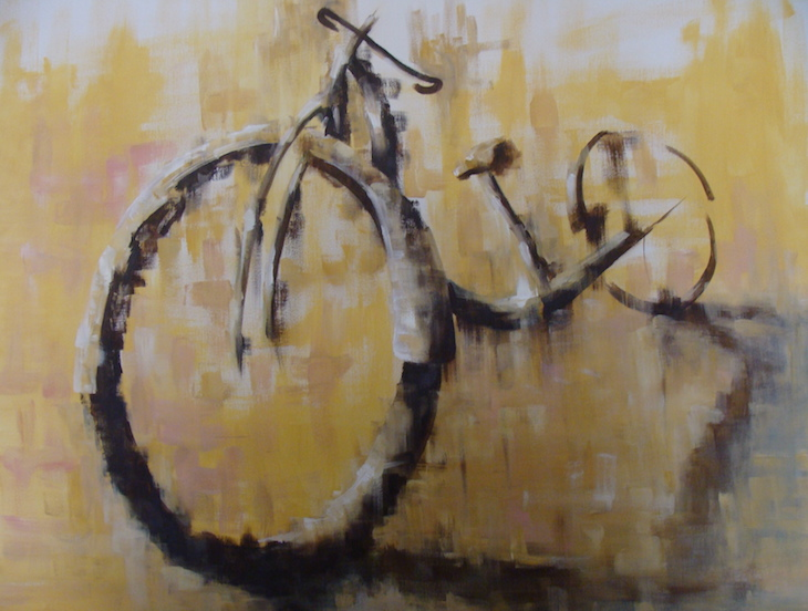 bicycle-2014-acrylics-on-canvas-100x80cm
