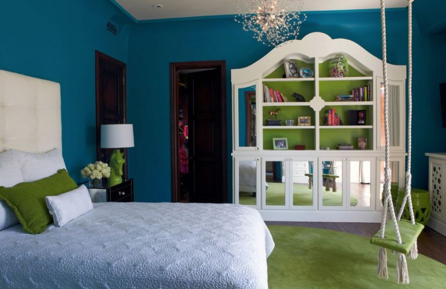 green-bedroom-with-rope-swing-1