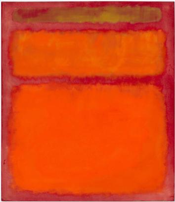 'Orange, Red, Yellow' Mark Rothko